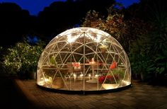 The Four Seasons Garden Igloo is a geodesic dome that offers a unique, year-round, eco-friendly addition to backyards everywhere – whether it's to make your own greenhouse or create a nook for some R&R.