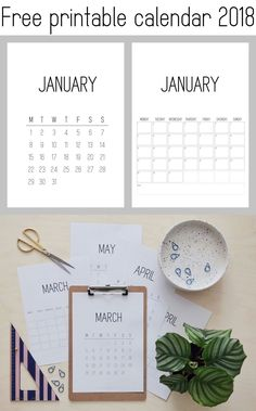 Free printable calendar 2018 | Kreavilla