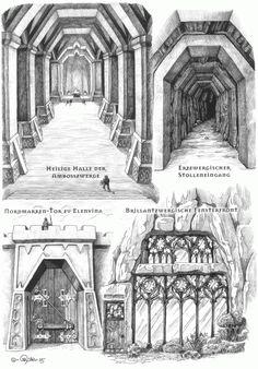 Zwergenarchitektur by caryad (www.caryad.de) (Rabbit Houses Drawing)