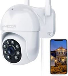 1080 high resolution can cover more spaces even in the pitch dark with a night vision distance up to 32ft.It also has white lamp night vision mode, double light makes the camera has full color which capture a full and clearer picture or video for you. Comes with bracket, can be directly installation on the house. Super Easy Setup:Easy and Quick to set up with a step by step instructions via QR code or EZ Mode.A stronger wifi antenna allow security camera have a more stable 2.4GHz WIFI connection Best Security Cameras, Pitch Dark, Wifi Antenna, Home Surveillance, Night Vision, Step By Step Instructions, Super Easy, Distance, Connection