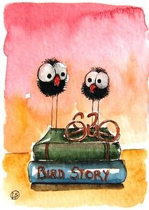 Lovely little crows are waiting for a story... Lucia Stewart