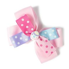 Polka Dot Ribbon Bow Easter Barrette | Claire's