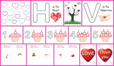 Free printable Valentine play dough mats for some Valentine's Day fine motor and sensory fun. 14 printable pages in all! || Gift of Curiosity