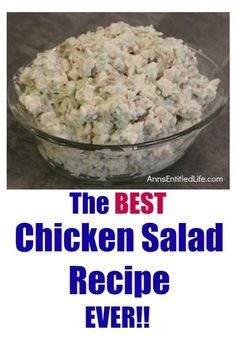 Chicken Salad Recipe. There is no way to describe how good this chicken salad is – you will have to make it and see, but believe me when I say this chicken salad is delicious.