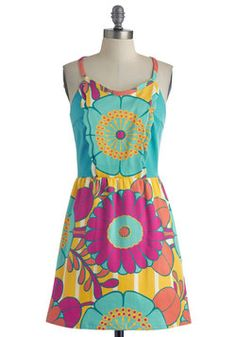 Stationery Show Dress in Flowers, #ModCloth