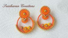 Paper quilling earrings/Ramleela earrings