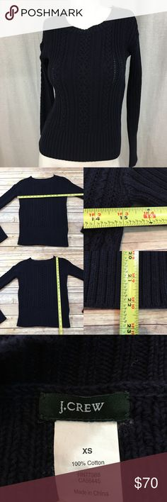 💟Size XS J. Crew Zip Shoulder Cable Knit Sweater Measurements are in photos. Normal wash wear, no flaws. F2/46  I do not comment to my buyers after purchases, due to their privacy. If you would like any reassurance after your purchase that I did receive your order, please feel free to comment on the listing and I will promptly respond.   I ship everyday and I always package safely. Thank you for shopping my closet! J. Crew Sweaters Crew & Scoop Necks
