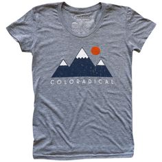Vintage Three Mountain T-Shirt (Women's Grey)