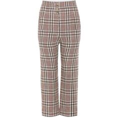 Isabel Marant, Étoile Jaz Plaid Linen Trousers ($320) ❤ liked on Polyvore featuring pants, beige, straight, trousers, brown trousers, plaid trousers, linen trousers, straight pants and beige linen pants