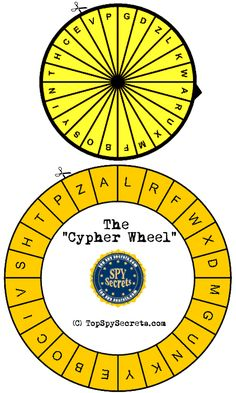 Create your own secret message with this DIY cipher wheel.