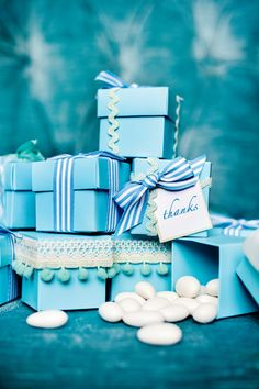 Bridal Tea Celebrate It™ Turquoise Favor Boxes