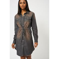 Grey Denim Midi Dress Ex-Branded-Women - Apparel - Dresses - Casual-Look Love Lust
