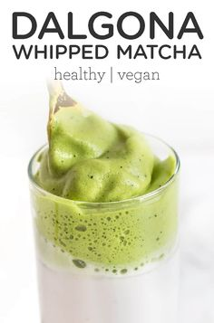 This whipped matcha recipe is a coffee-free twist on the popular Dalgona Korean coffee craze. This healthy, homemade whipped matcha recipe is perfect for non-coffee drinkers and easy to make. Made with coconut sugar and non-dairy almond milk. Vegan Snacks, Vegan Desserts, Vegan Recipes, Dessert Recipes, Cooking Recipes, Plated Desserts, Vegan Food, Healthy Snacks, Matcha Latte Recipe