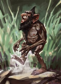 Gnome (Harry Potter and the Chamber of Secrets) Concept Art by Adam Brockbank