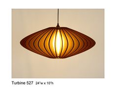 Pendant Lighting Turbine 527  laser cut by rusticluxmodern on Etsy, $164.00