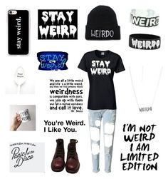 """""""In honor of my weirdness"""" by llamacornsarereall ❤ liked on Polyvore featuring WALL, WithChic, Disturbia, Casetify, Oliver Gal Artist Co. and Chanel"""