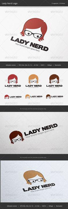 Geek Girl Logo — Vector EPS #internet #gear • Download here → https://graphicriver.net/item/geek-girl-logo/6562188?ref=pxcr