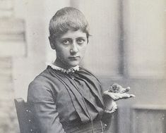 19 year old Beatrix Potter with her pet mouse, Xarifa, circa 1885.