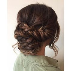 Beautiful braid updo wedding hairstyle for romantic brides featuring polyvore
