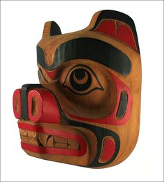 native mask | native american bear mask kwakiutl northwest coast canada artist joe ...