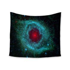 "Suzanne Carter ""Helix Nebula"" Black Celestial Wall Tapestry"