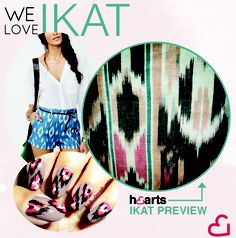 Hearts love Ikat!
