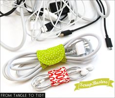 ScrapBusters: Cord Wraps in Two Sizes | Sew4Home