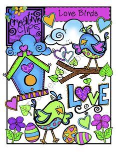 Love Birds {Creative Clips Digital Clipart} product from Creative-Clips-Clipart on TeachersNotebook.com
