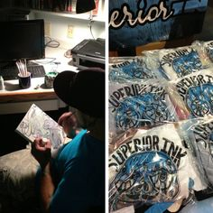 Wholesale screen printing production is usually one week from art approval to garment arrival. It is that easy!  #SuperiorInk #Design #Fashion #Apparel #Quality #Printing #Detail