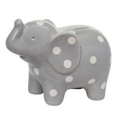 Elephant Ceramic Bank (GREY)