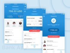 Bank App by Rosyd Aqbar #Design Popular #Dribbble #shots