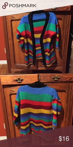 """Colorful """"feels like wool"""" sweater Colorful!!  Would love with jeans but it is too small for me. Never been worn Shein Sweaters Cardigans"""