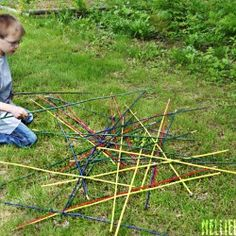 Giant Pick Up Sticks Game! #summer #kids #fun #outside