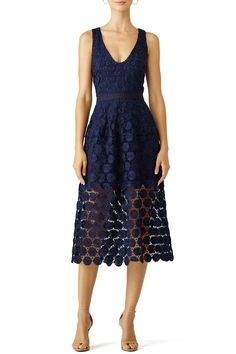 Trina Turk Blue Ceiba Dress