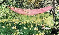 PDF Boho Summer Lacy Hammock Crochet by TheAtticofKitsch Vintage Knitting, Outdoor Furniture, Outdoor Decor, Doilies, Hammock, Knit Crochet, 1970s, Crochet Patterns, Boho