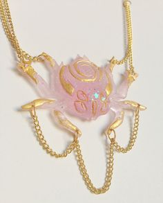 Particle Weaver Spider Charm Necklace by sakabutsu on Etsy