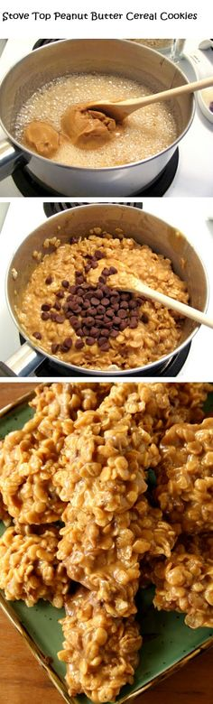 Stove Top Peanut Butter Cereal Cookies | Recipe Sharing Community