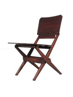 Franco Albini  Chair  Poggi  Italy1951    Franco Albini,Italy, c. 1951 rosewood, ash 17.5 w x 21 d x 30.5 h A rare form that was not widely produced.    17.5in L x 21in W x 30.5in H