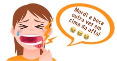 Quem nunca? 😭😢 Veja como se livrar deste problema rapidamente.  #afta #bemestar #boca #machucadonaboa #morderaboca