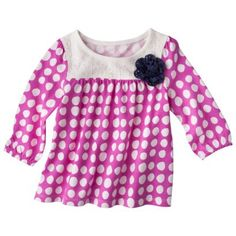 Genuine Kids from OshKosh Infant and Toddler Girls Pink Flower Shirt