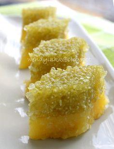 Steamed Cassava and Sago Kuih