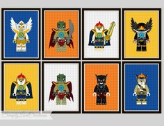 Lego Chima Prints Lego Prints Boy's Room by SimplyLoveCreations, $10.00