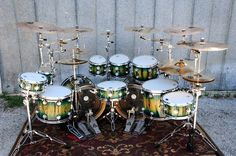 Derek Roddy's Exotic Kit. I love that one tiny cymbal in the middle. You know he must never actually hit it, too.