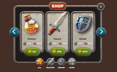 ArtStation - GAME UI+ICONS FREE, ILYA Denisenko