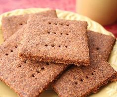 Homemade Low Carb Sugar-Free Graham Crackers | All Day I Dream About Food