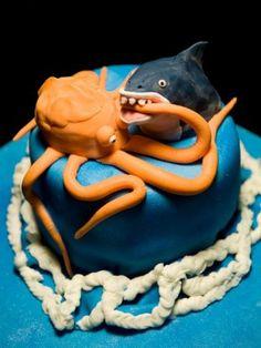 Mega Shark vs. Giant Octopus Cake