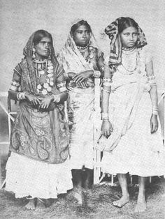 Three East Indian women labourers in Trinidad, 1890s.