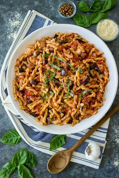 Eggplant, Caramelized Onion, Tomato and Burrata Pasta