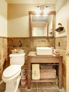 Rentals often have small bathrooms. Here's a few ideas  make the most of the space.