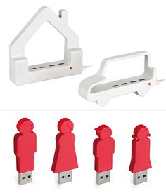 Cute USB Hubs and Sticks by Enrico Azzimonti   moddea